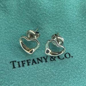 Tiffany&Co Silver & K14 Peretti Heart Earrings